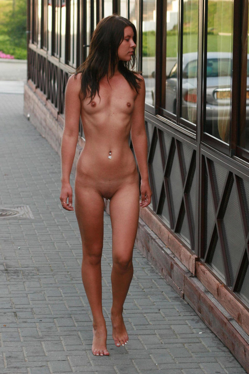 Skinny Girl With Small Tits At Public Places  Russian -5916