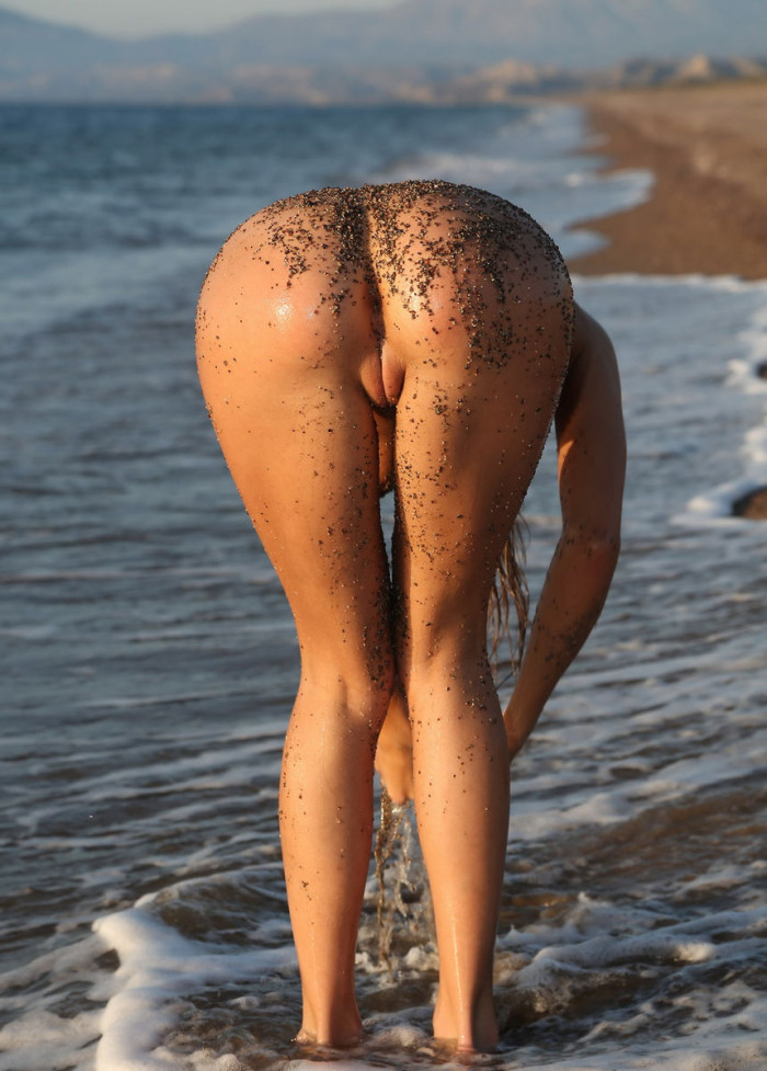 Smiling Teen Is Undressing At Beach  Russian Sexy Girls-3290
