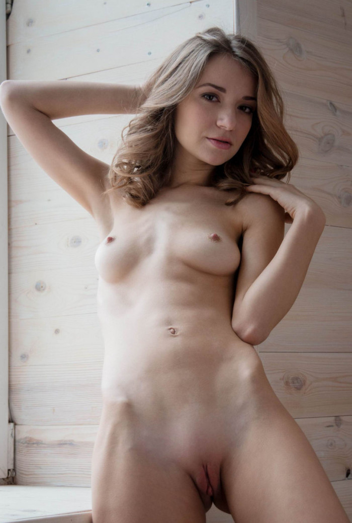 Very beautiful russian girl with shaved pussy