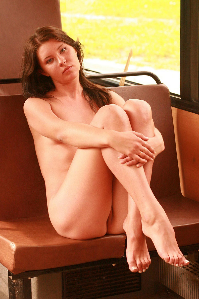 Tall Russian Girl Walks Naked In Bus  Russian Sexy Girls-8105