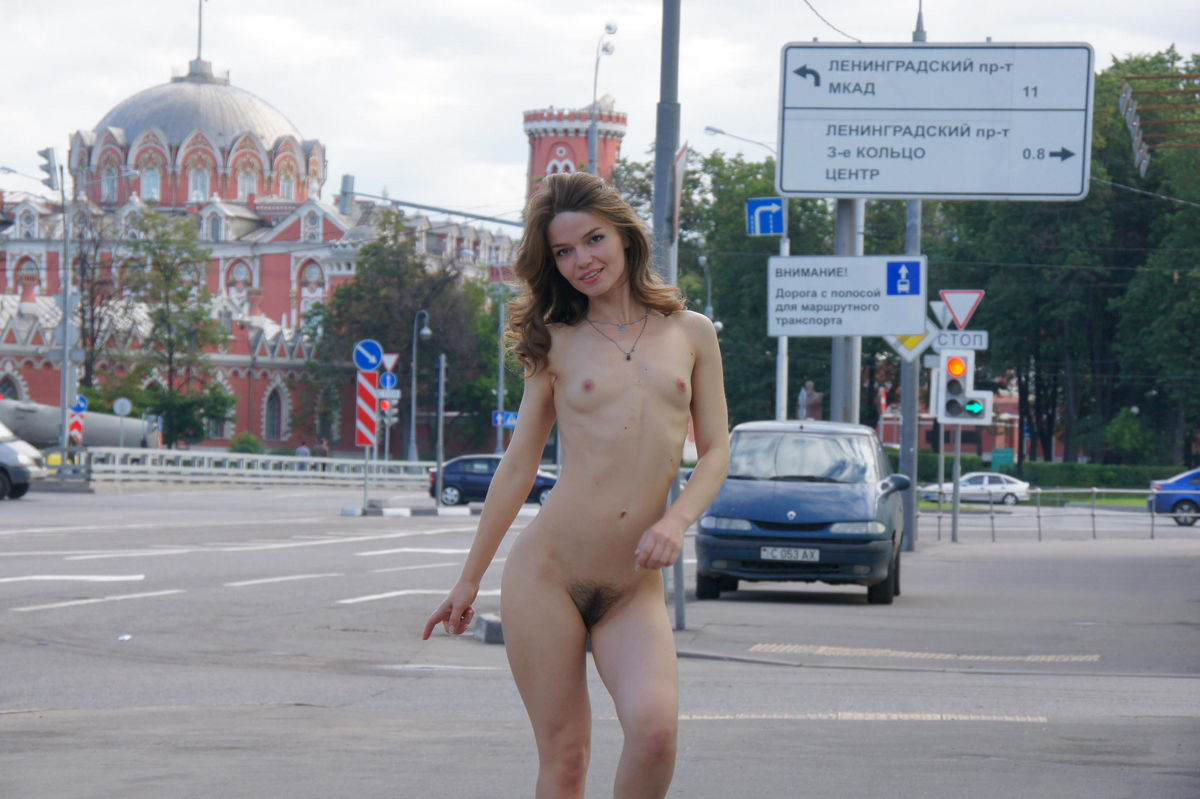 Girls go nude in public-3703