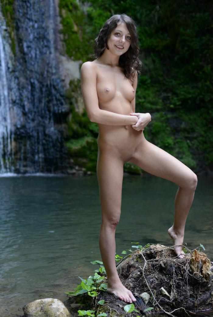 Nude women masturbating with hoses