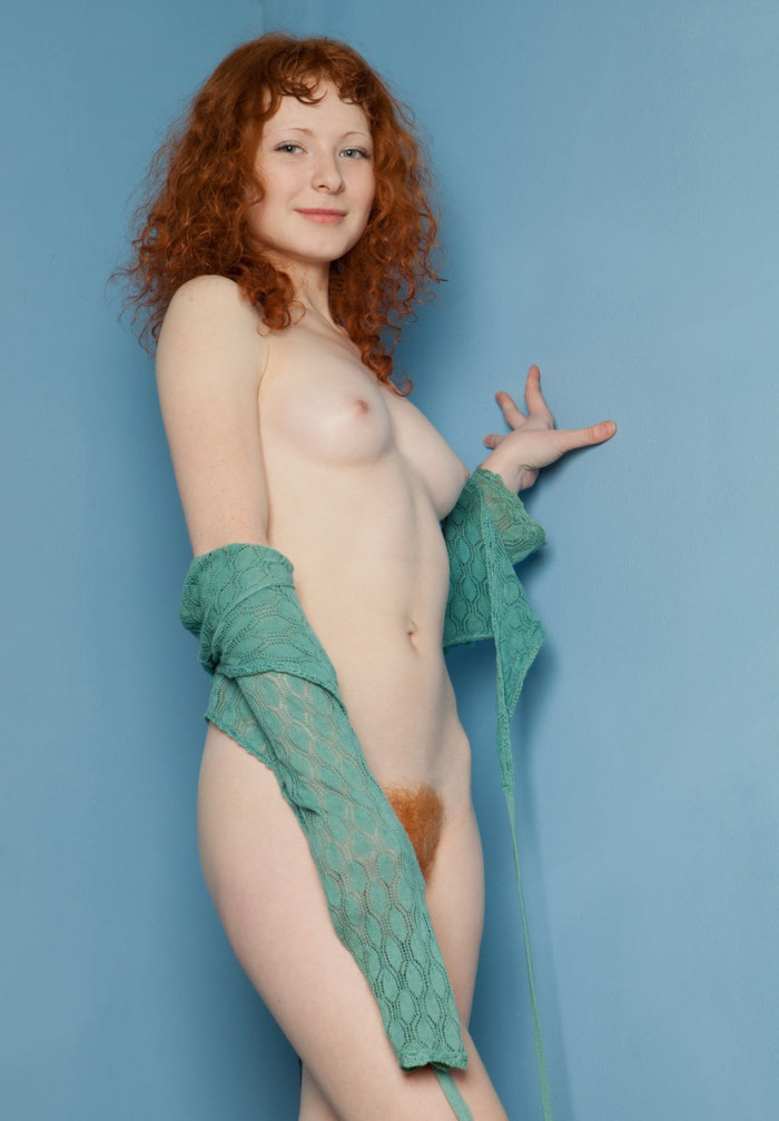 Curly Redhead Reveals Her Giant Fur Covered Vulva  Russian Sexy Girls-2119