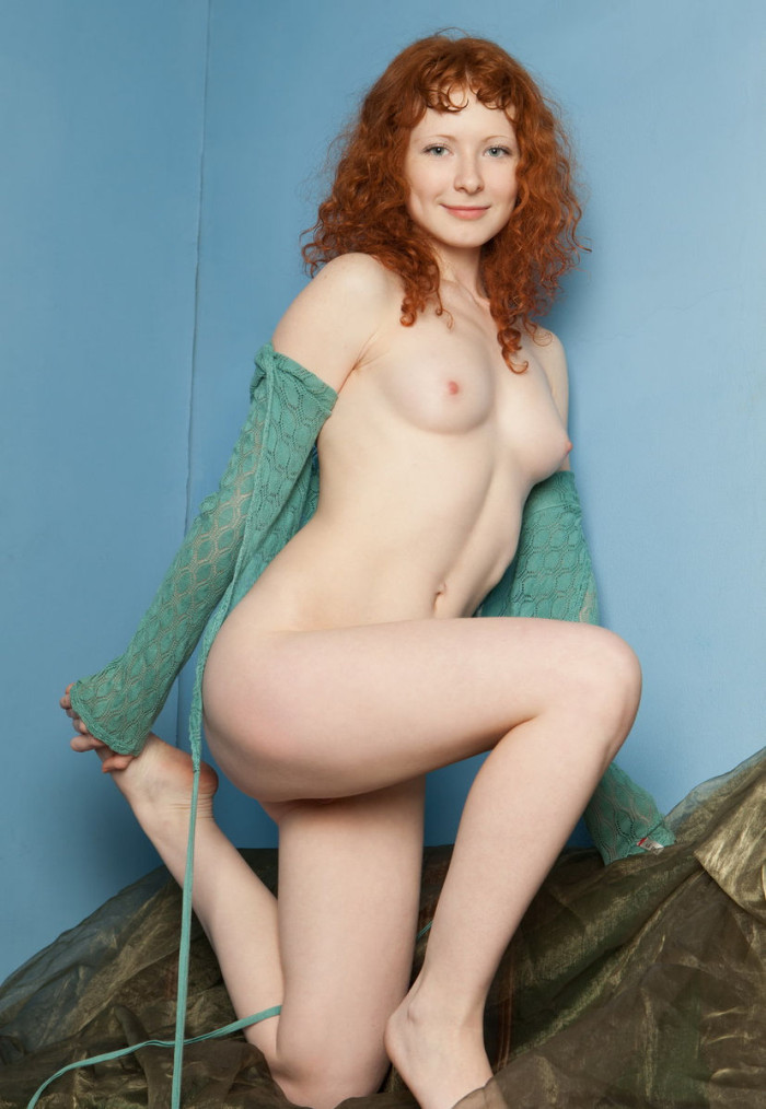 Curly Redhead Reveals Her Giant Fur Covered Vulva  Russian Sexy Girls-4215