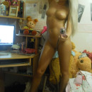Gorgeous amater blonde and her self shots