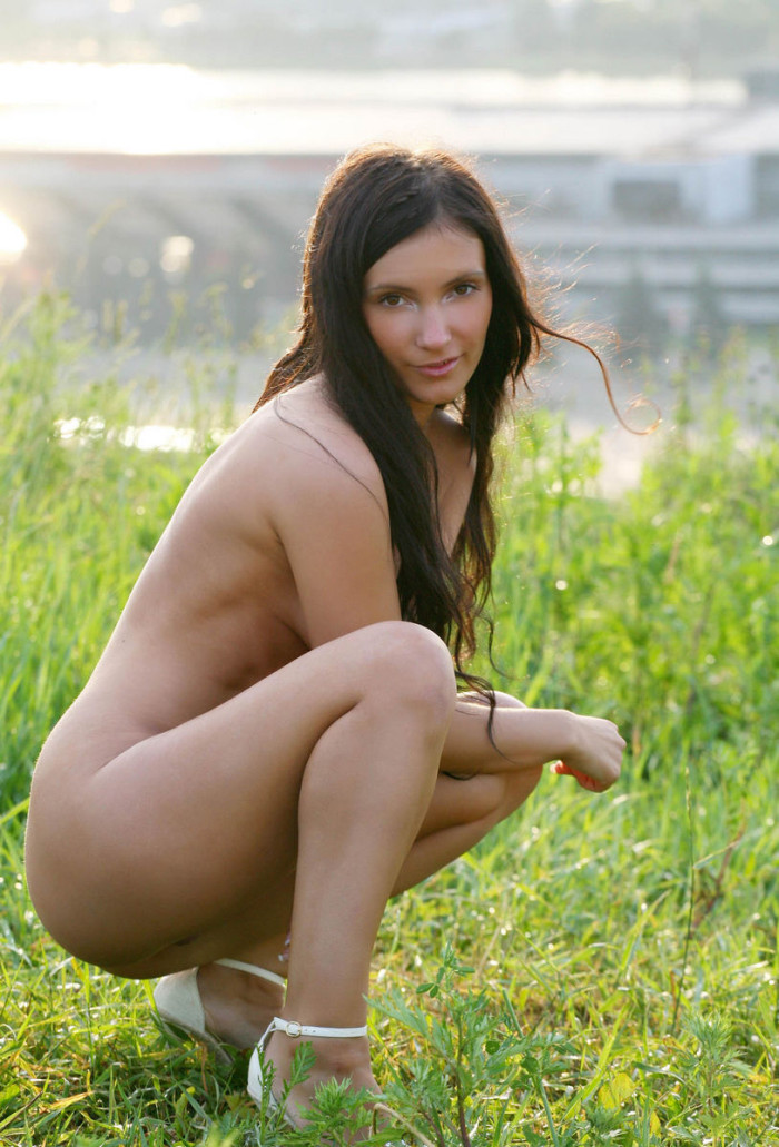 Russian Beautiful Brunette Has Sporty Body And Amazing -4399