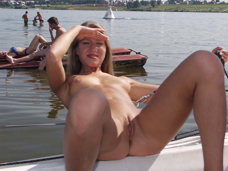 sexy nude women on a boat