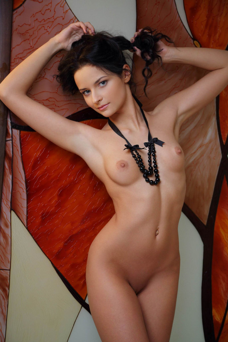 Sexy brunette Hot naked
