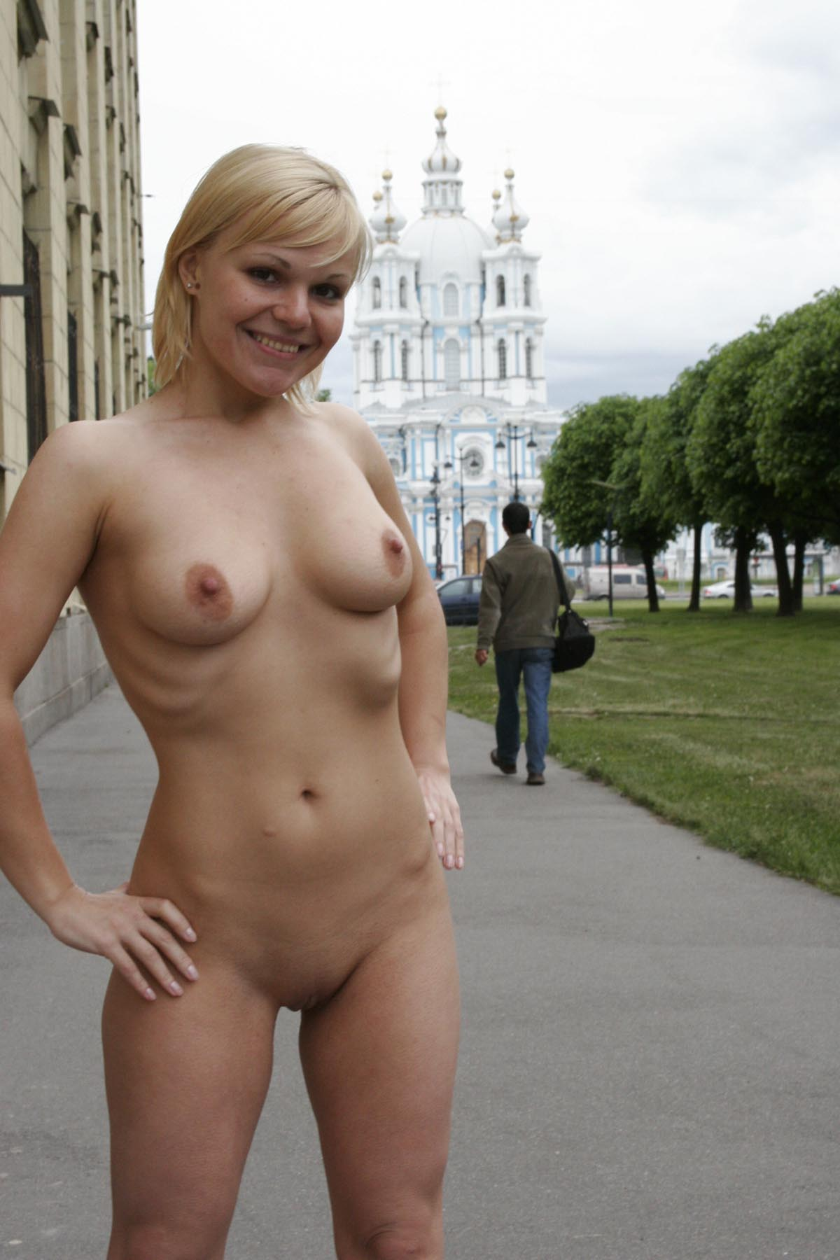 Blonde college nude