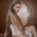 The most sweet russian teen in very sexy dress shows all her goods