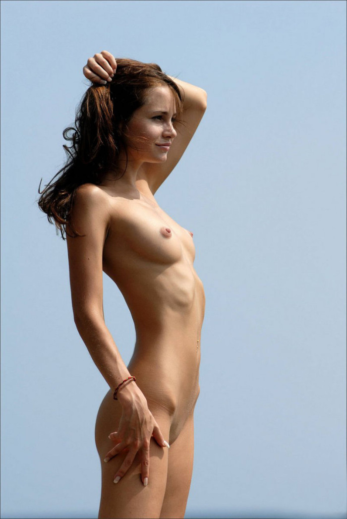 Something is. Shorthaired russian girl posing naked good