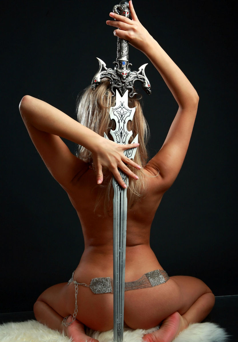 Erotic girl with sword fucked tube