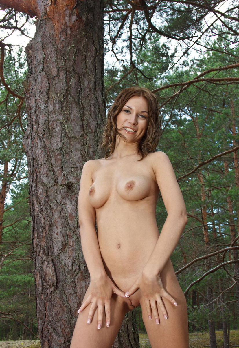 Sexy girl in forest-6823
