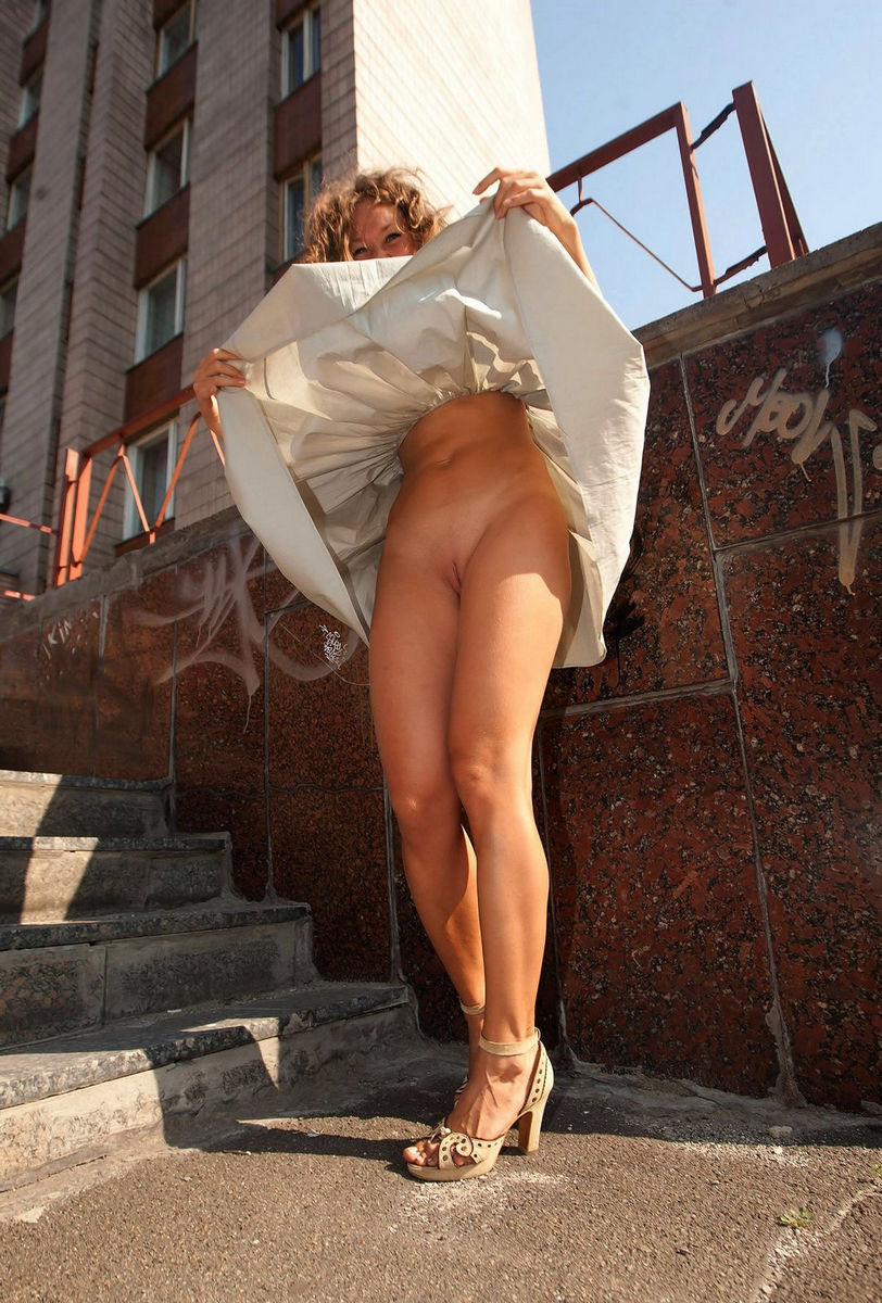 Curly Girl With Small Tits Demonstrates Her Goods At Public  Russian Sexy Girls-7680