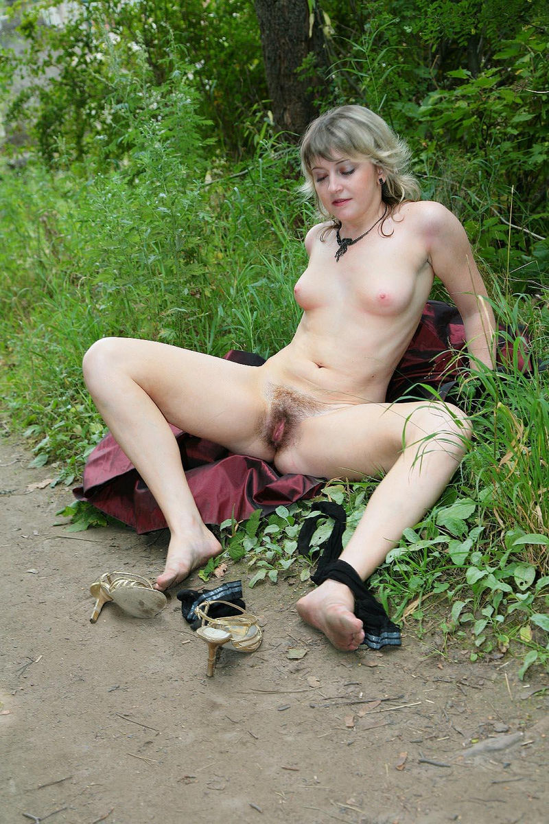 Mature hairy blonde russian