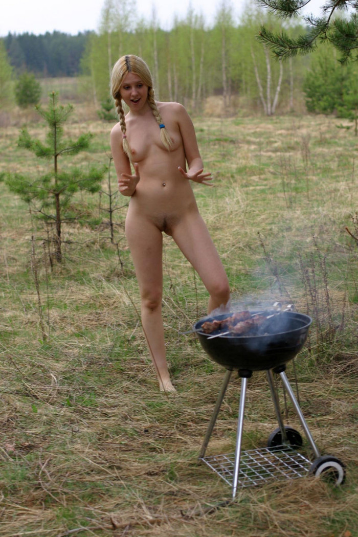 naked women at barbeque