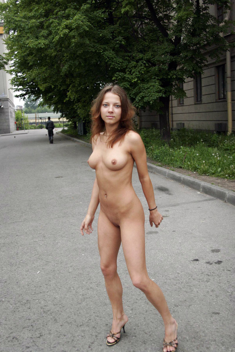 Dressed girls humiliate the naked guys