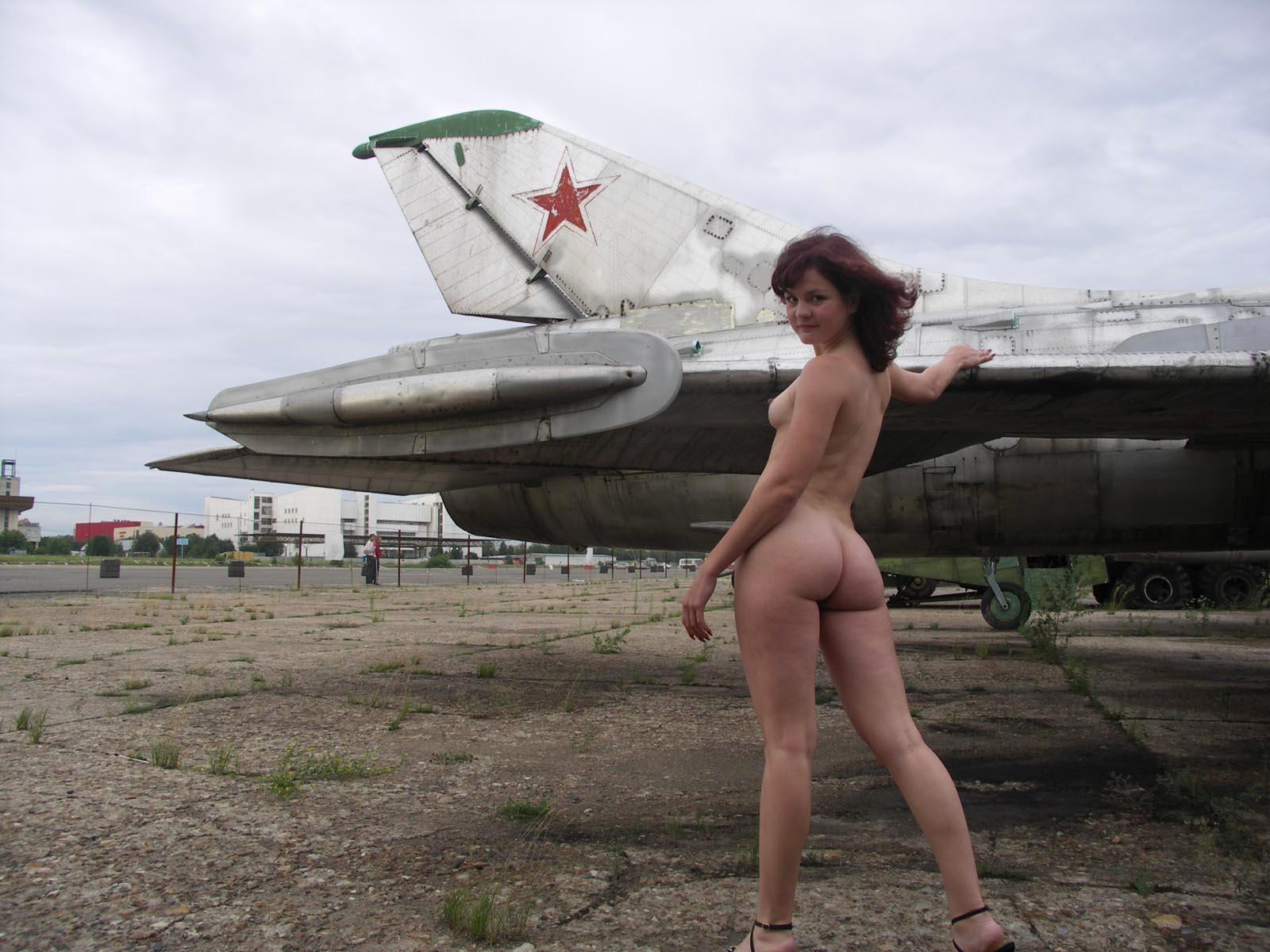 Naked girls airplane jet plane