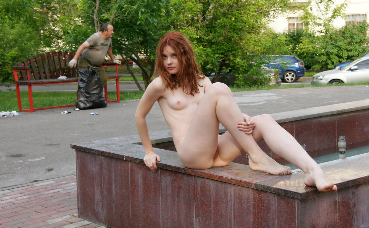 Sweet redhead teen posing what from