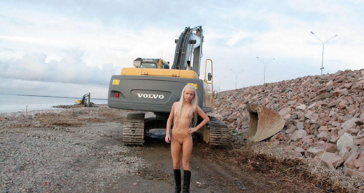 Nude girls in construction, girls naked big boom