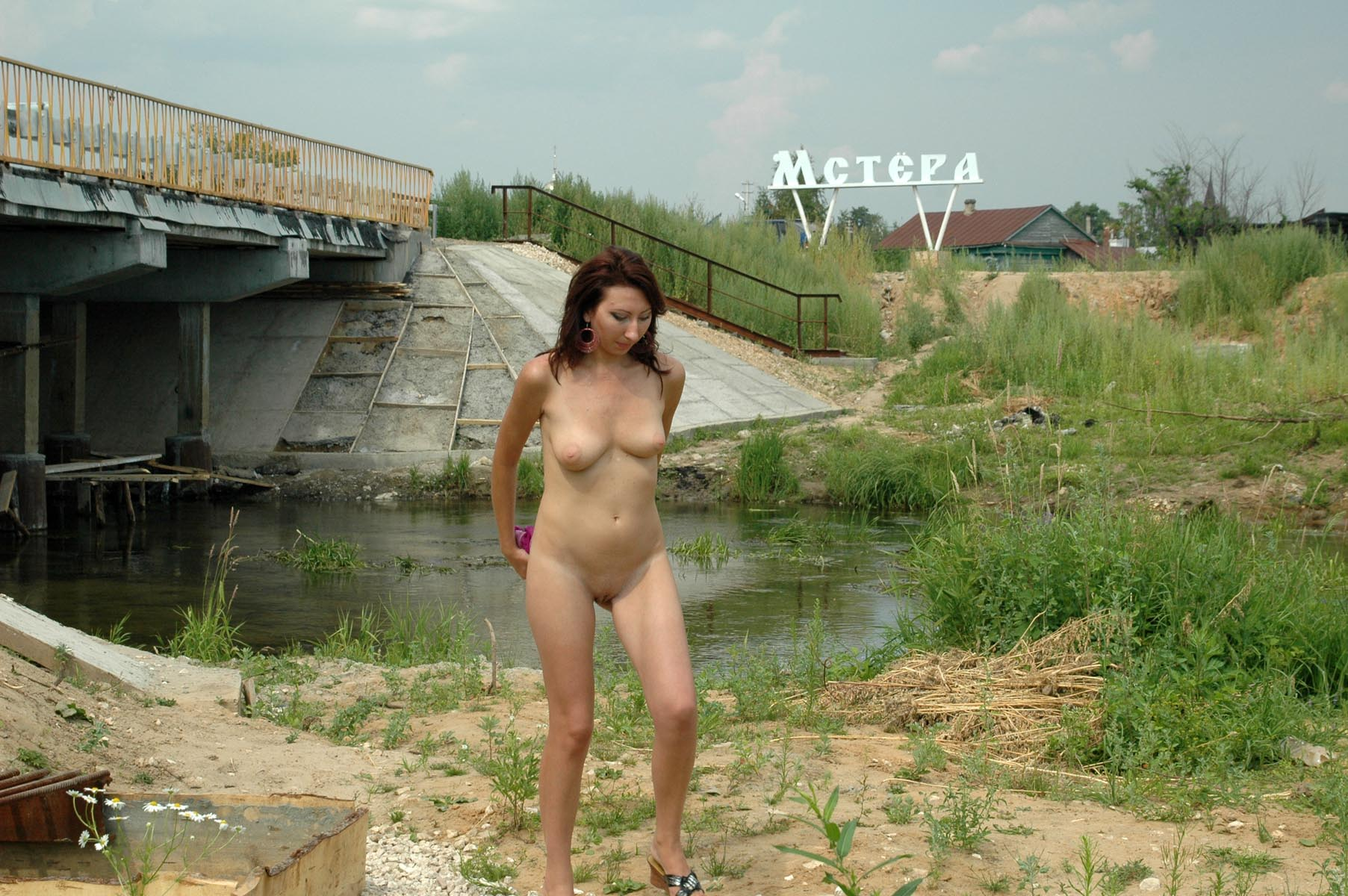 Russian girl walks naked in the country | Russian Sexy Girls