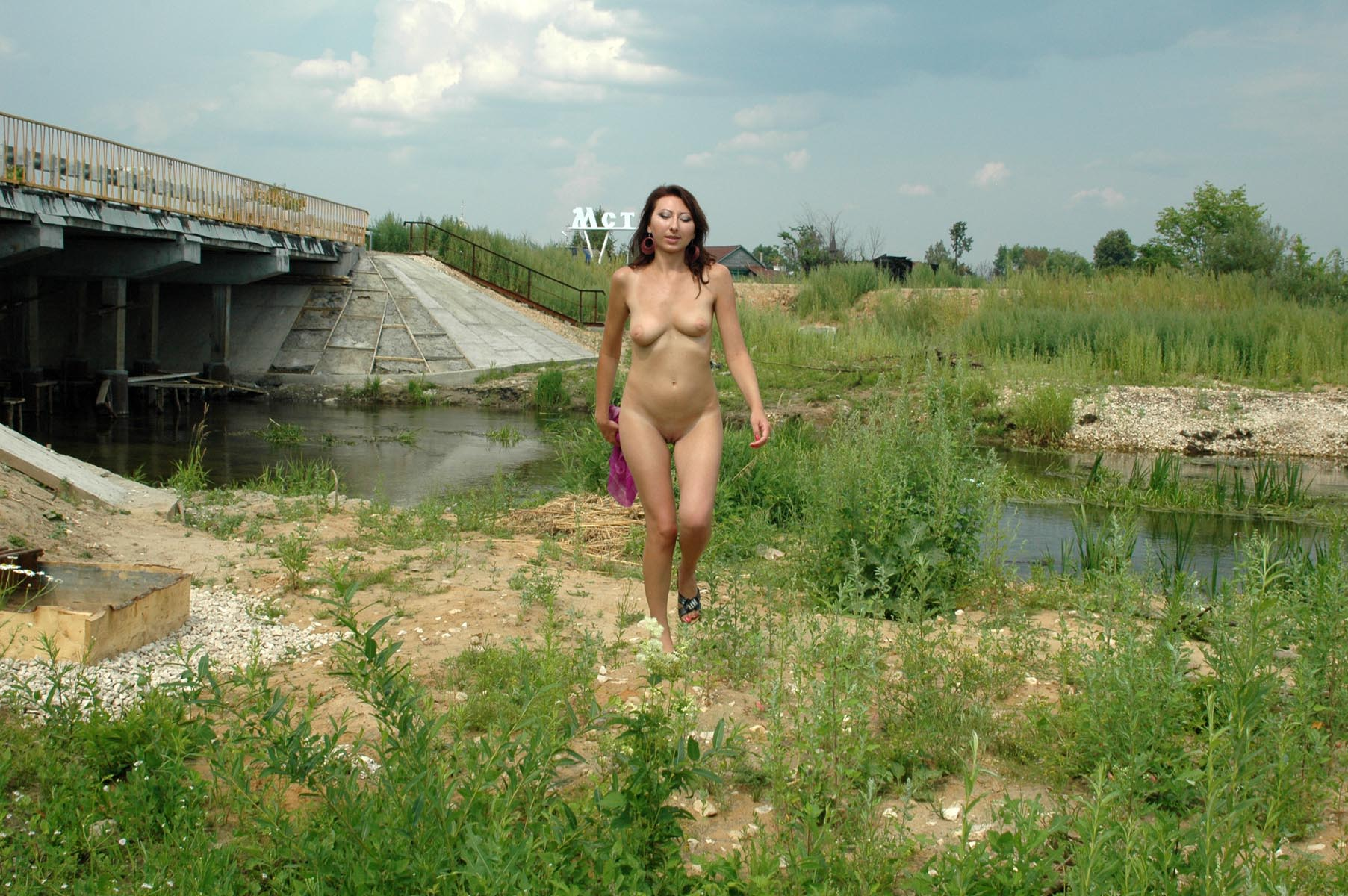 Russian Girl Walks Naked In The Country  Russian Sexy Girls-8537