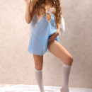 Russian teen angel with small tits in white socks