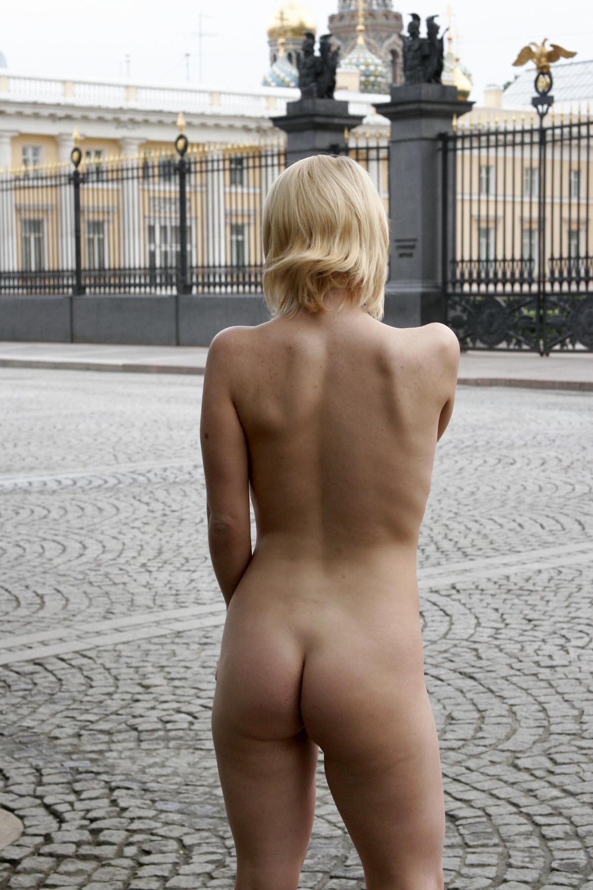 Girls with short blonde hair nude for the