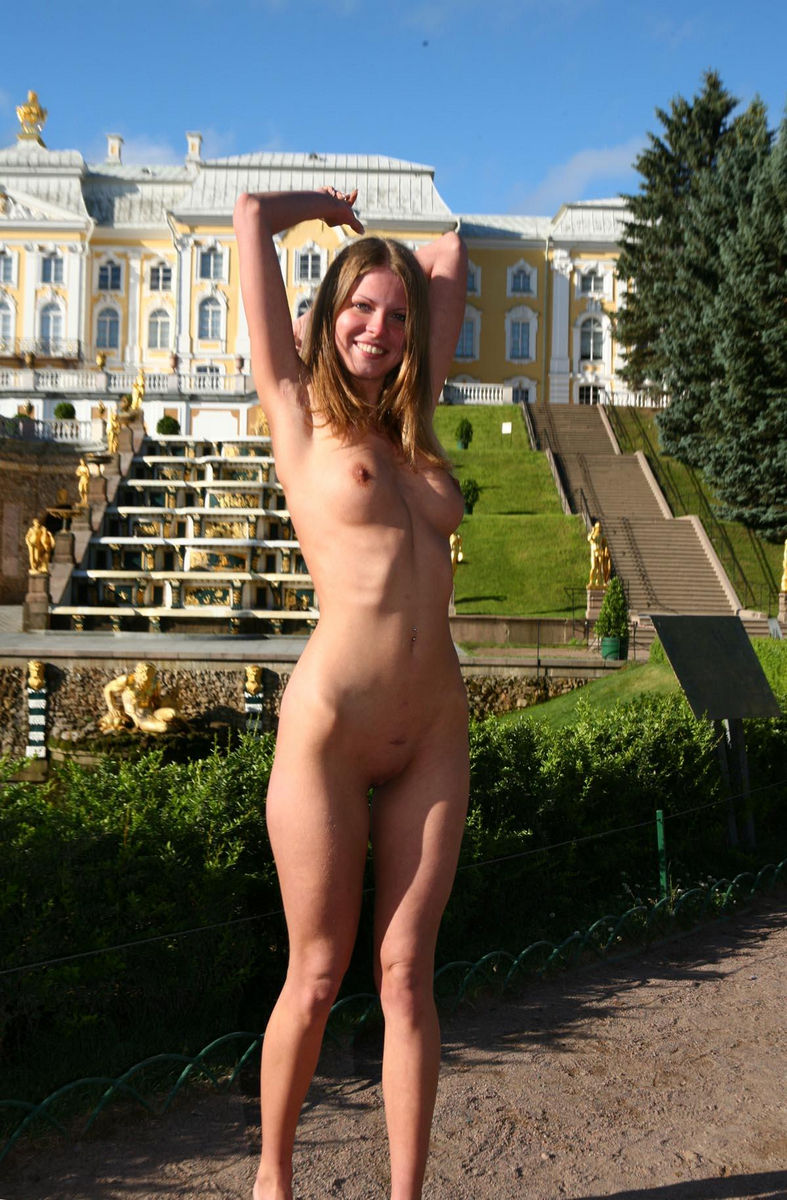 ladies walking topless in public