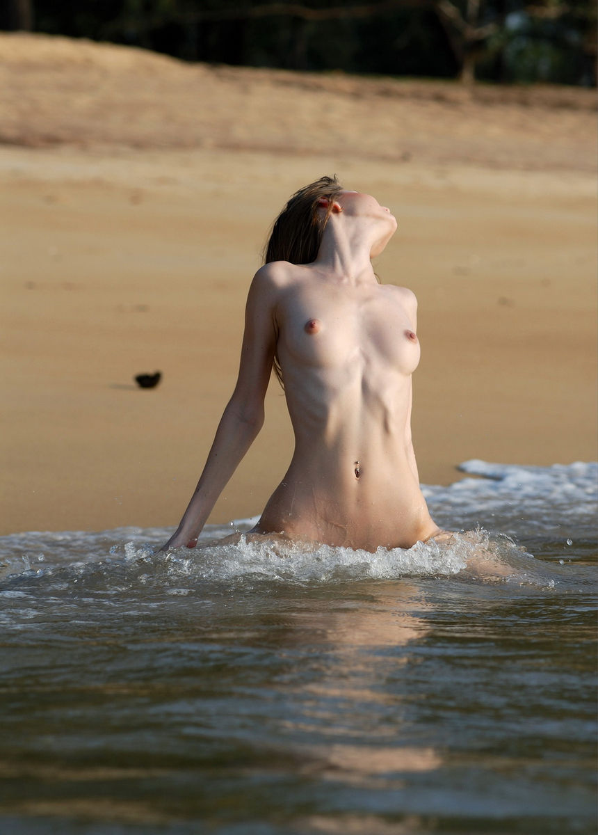 Very Skinny Russian Babe Anna On The Beach  Russian Sexy -5963
