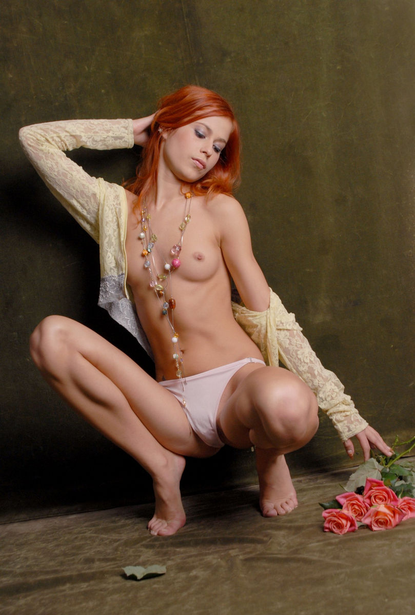 Above told beautiful nude red headed women