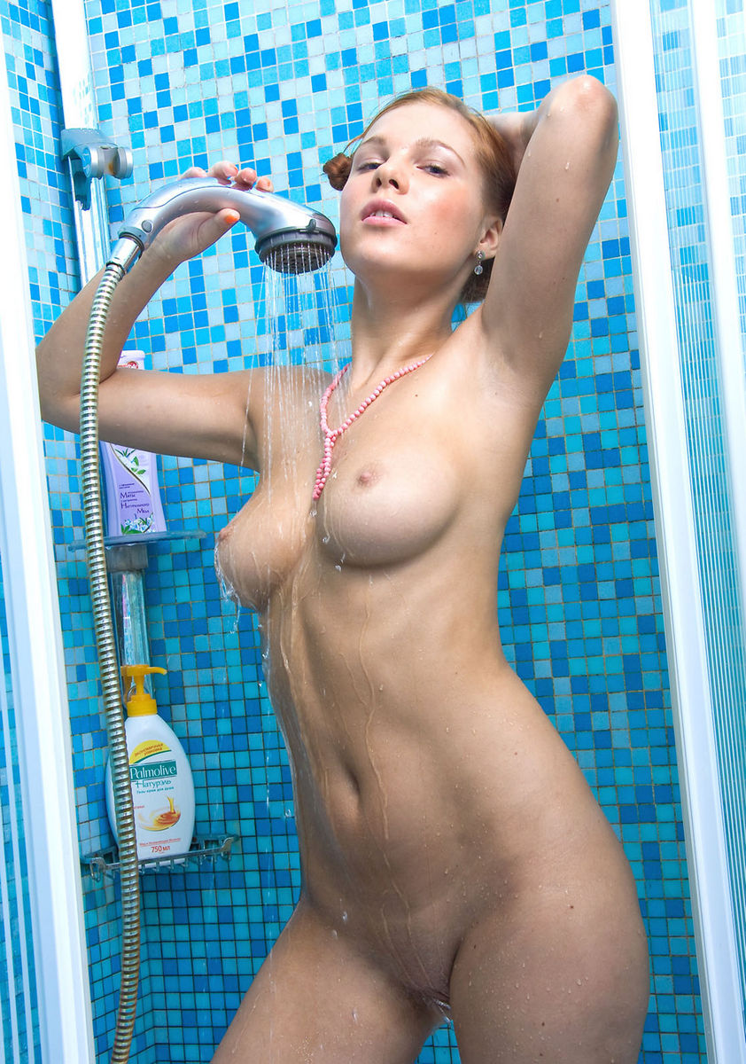 Hot girl taking shower
