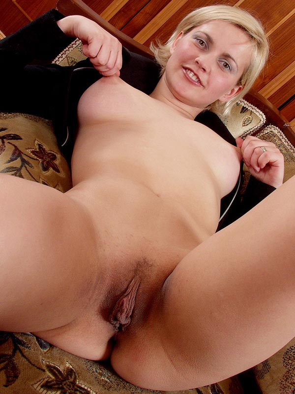 Short blonde hair milf