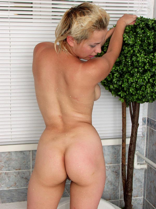 Blonde short hair milf nude