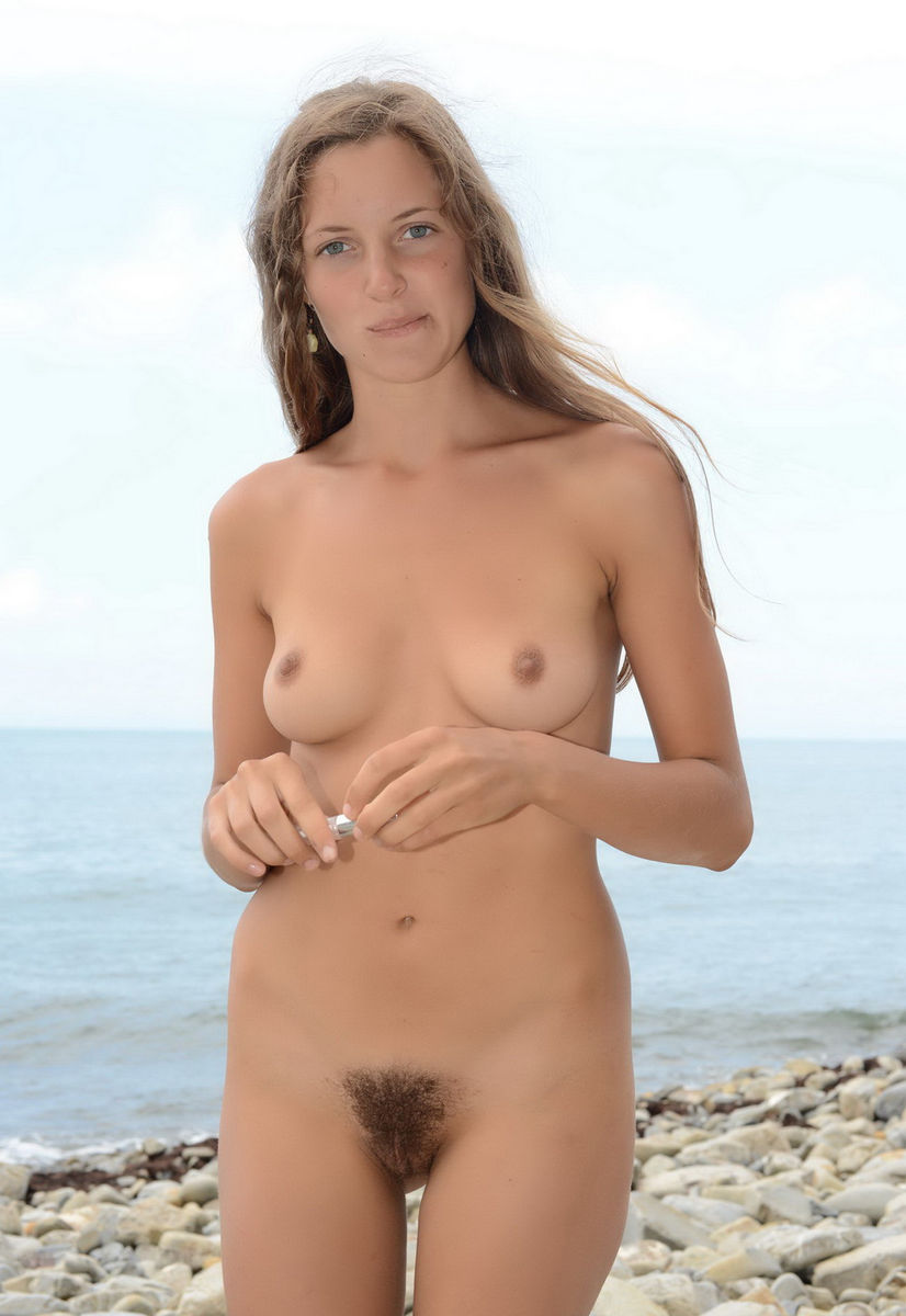 Hairy blonde nude beach girls