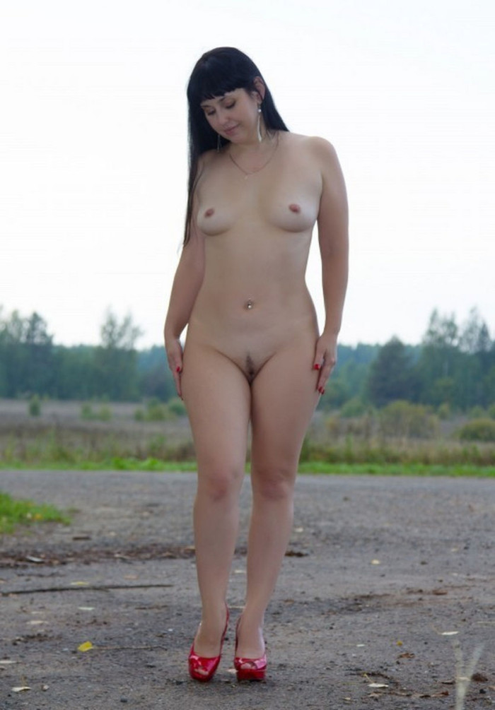 After a motorcycle trip she decided to show herself for two strangers