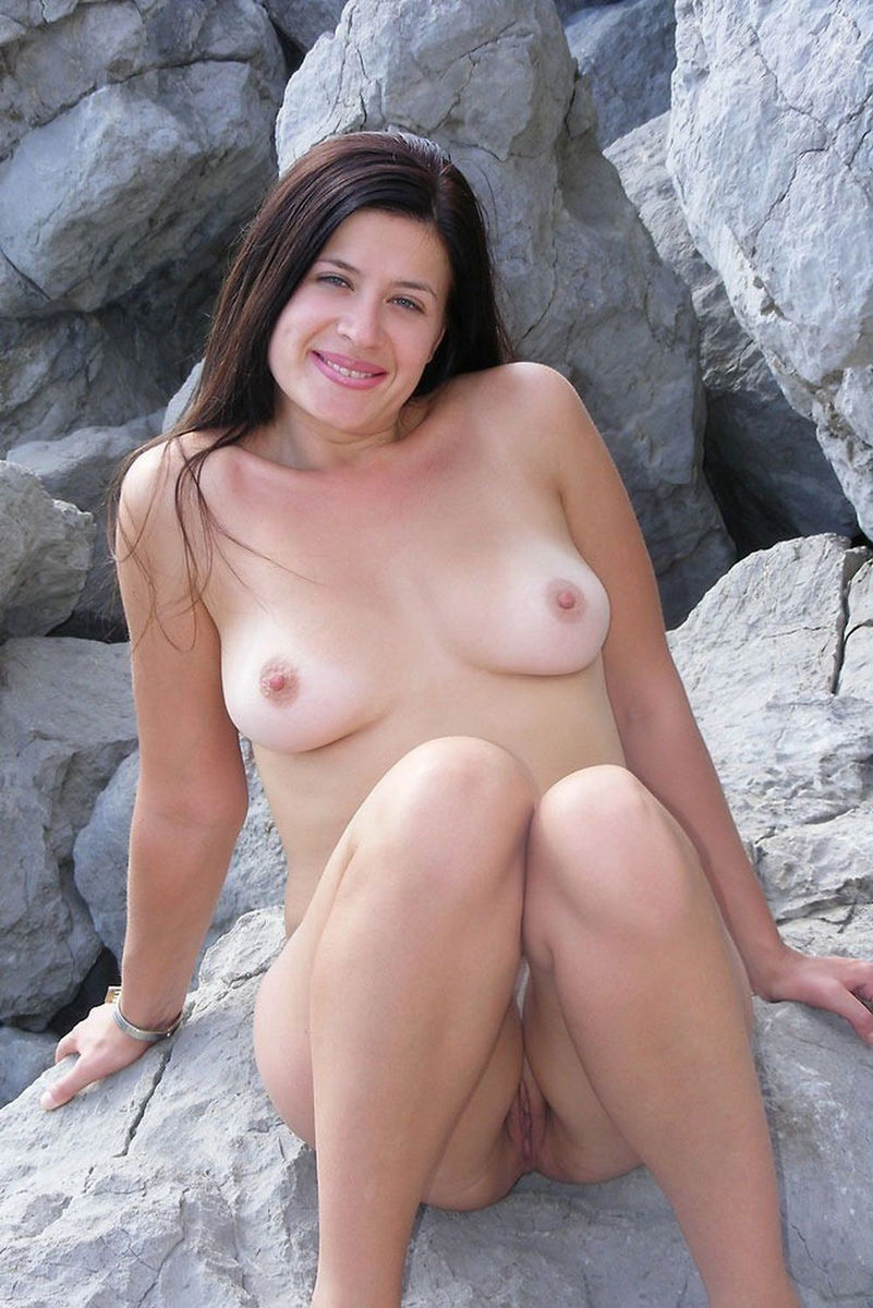 Shows her tits chick sexy brunette