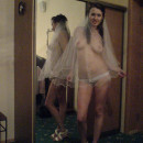 Amateur session of one busty russian bride