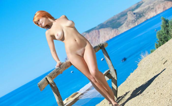 jezebel jones exposes her fantastic big jugs as she kneels and b