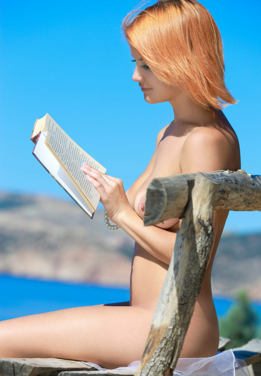Beautiful Session Of Busty Redhead, Who Loves To Read -1298