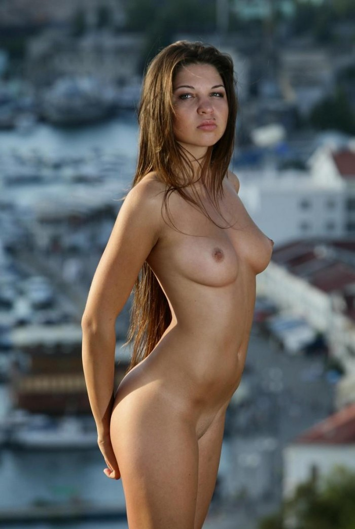 The excellent Sexy nude brunette long hair