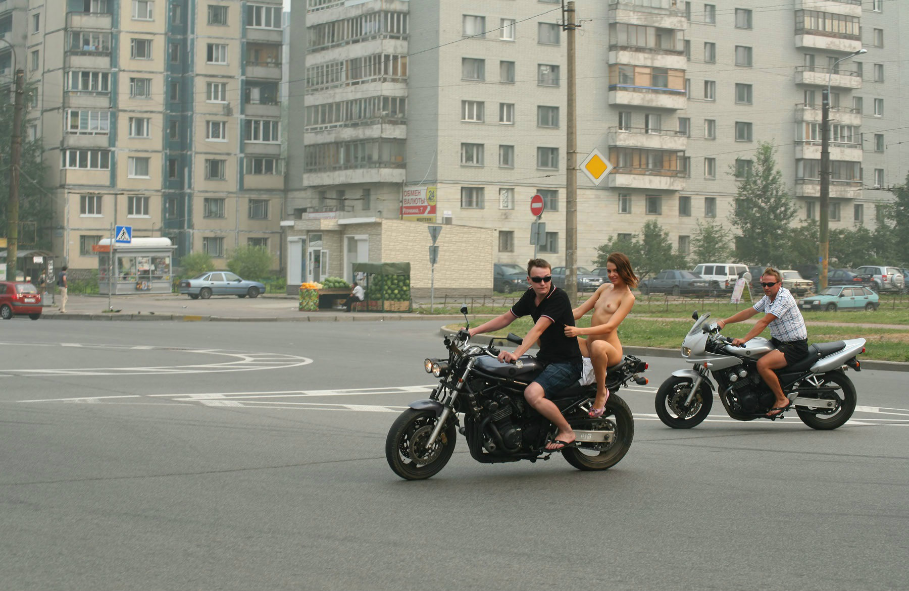 Crazy Russian Teen Rides A Motorcycle Naked In The Streets -5022