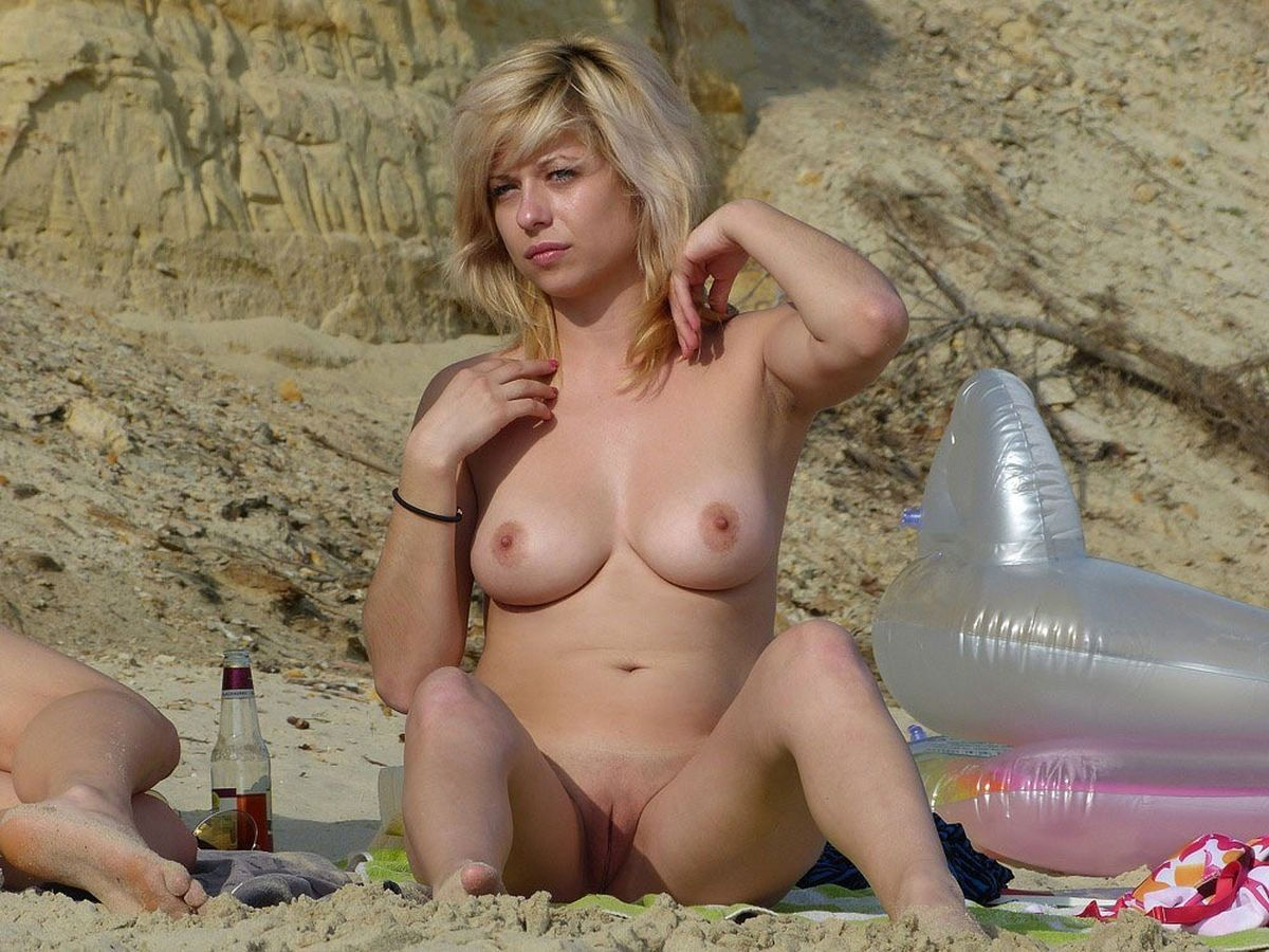 Busty girls at the beach