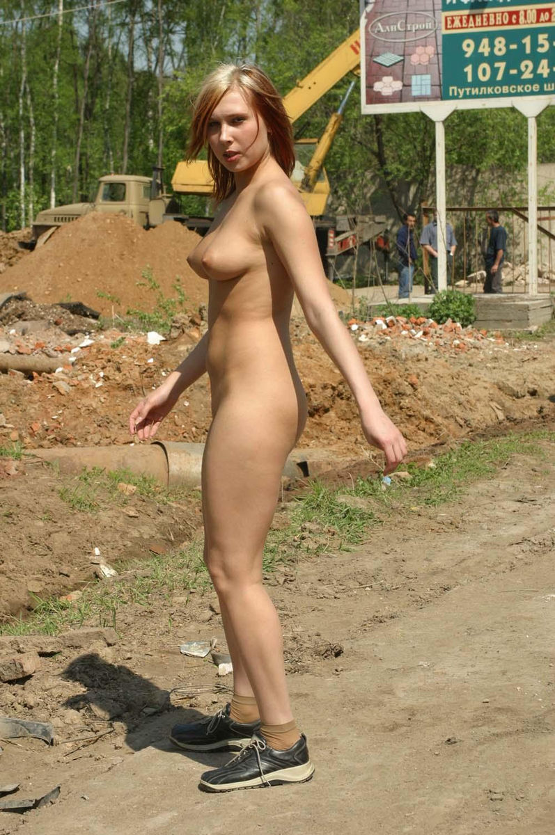 girl highway Naked on