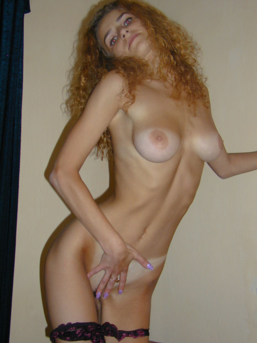 Curly Amateur Blonde With Skinny Body And Big Boobs -4961