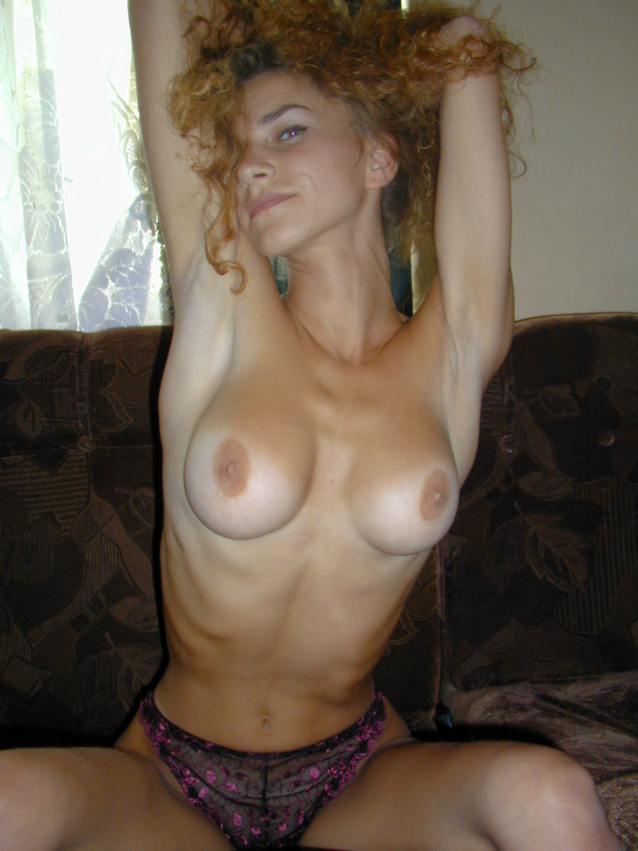 Natural boobs skinny wife