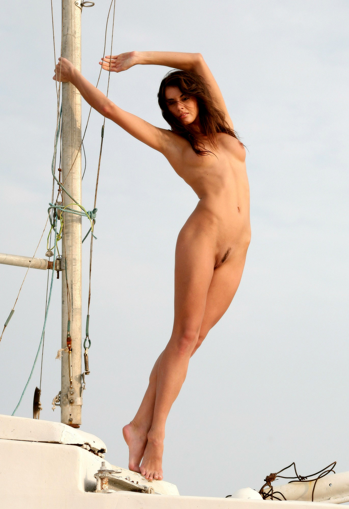 Hot russian babe on the yacht   Russian Sexy Girls