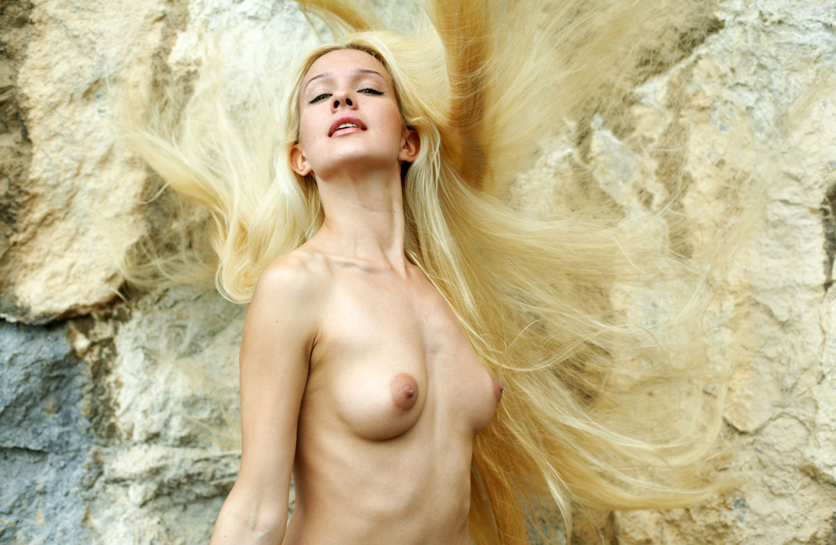 Nude thin women with long hair 4