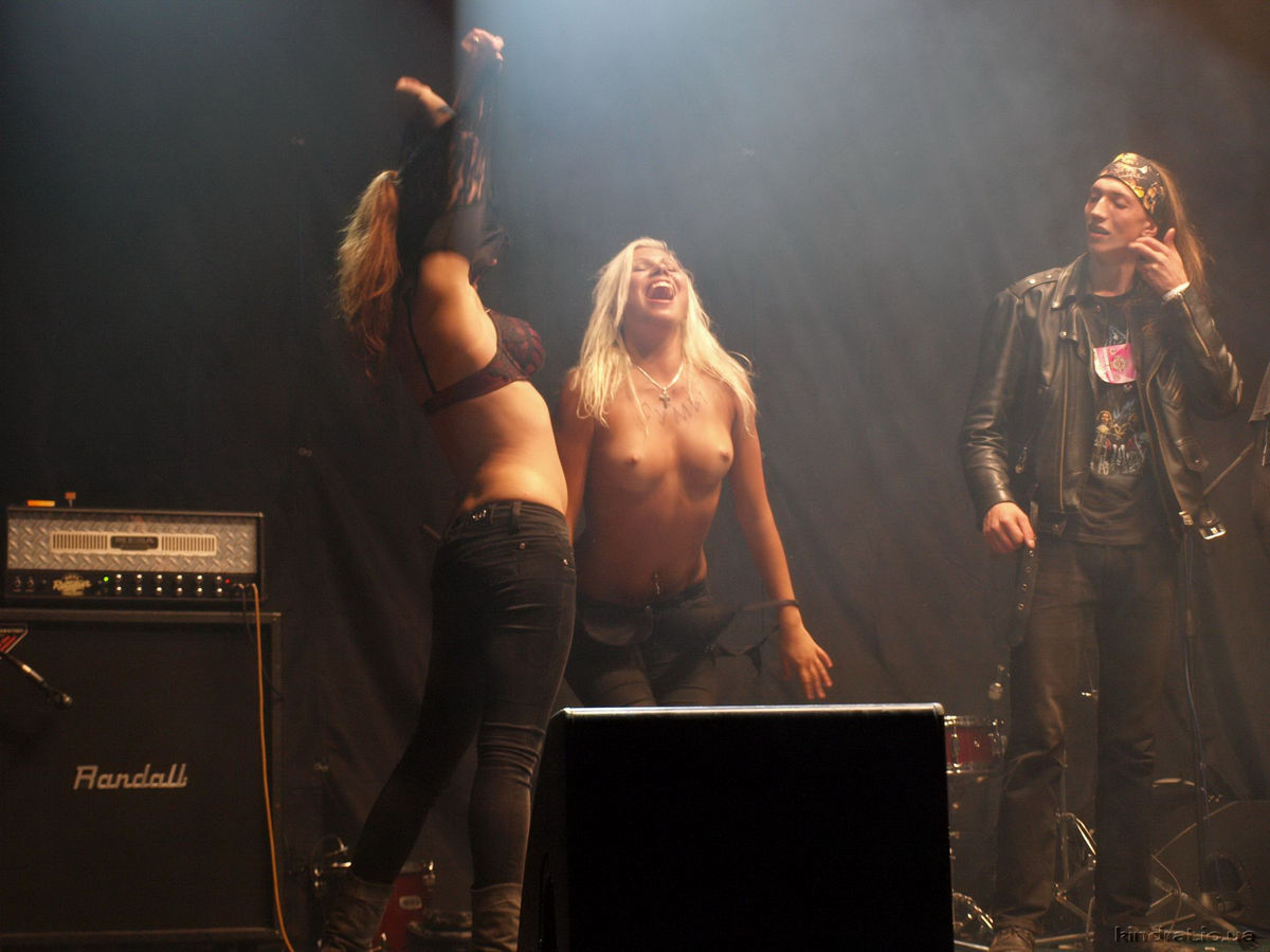 Topless babes at rock concerts