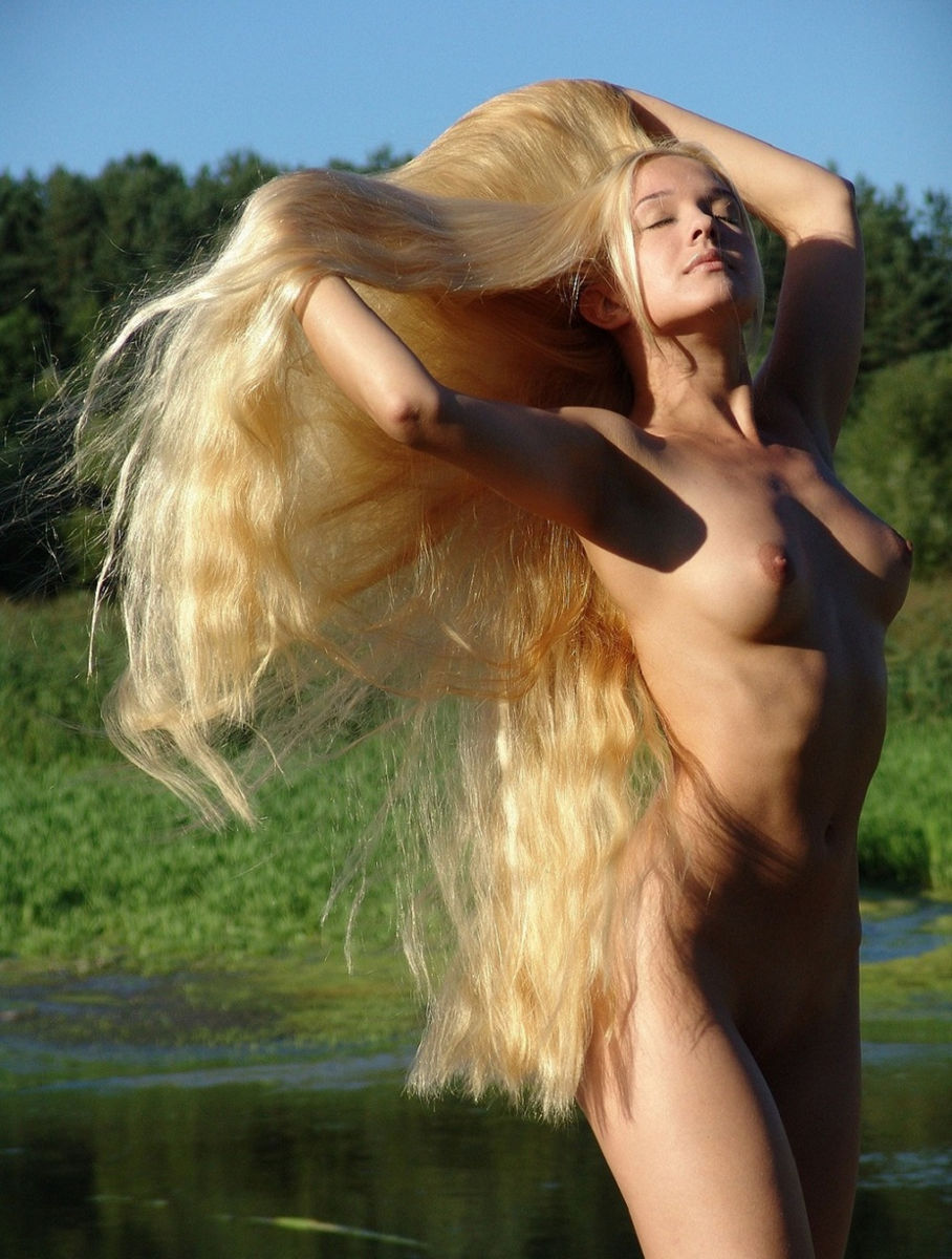 real blonde hair girls naked